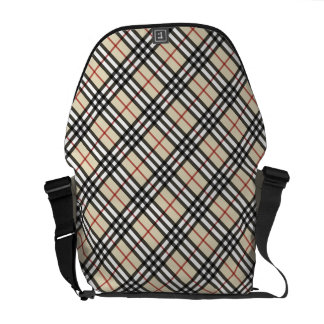 Stylish Crossed Plaid Check Pattern Courier Bag