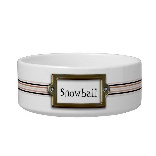 Stylish Custom Cat Bowl