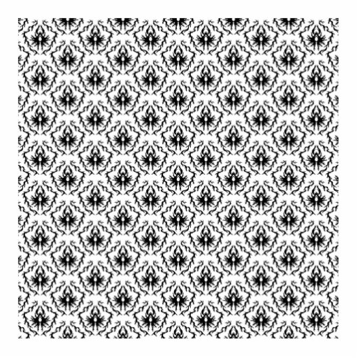 Stylish Damask Design in Black and White. Cut Outs