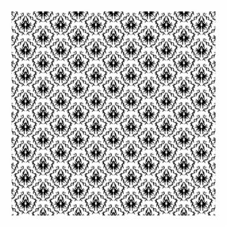 Stylish Damask Design in Black and White. Standing Photo Sculpture