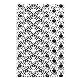 Stylish Damask Design in Black and White. Stationery