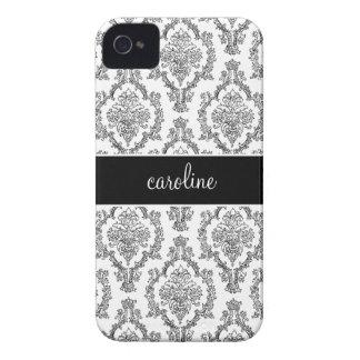 Stylish Damask iPhone Cases (Black)