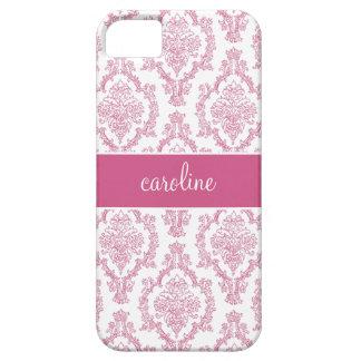 Stylish Damask iPhone Cases (Pink)