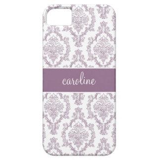 Stylish Damask iPhone Cases (Purple)