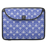 Stylish damask pattern. Blue and white. Sleeves For MacBooks