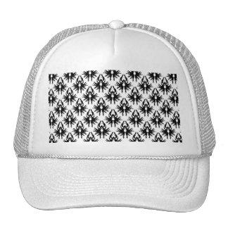 Stylish Damask Pattern in Black and White Hat