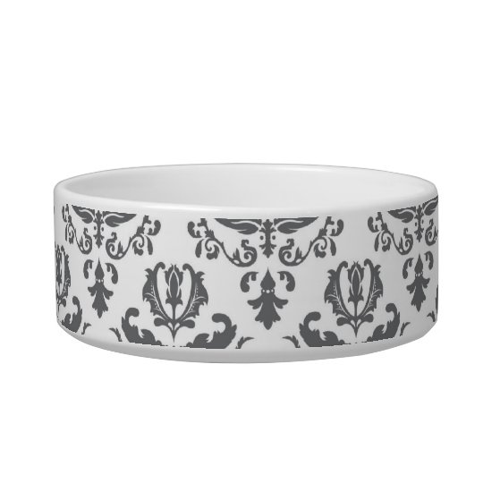 Stylish Damask Pattern Pet Bowls