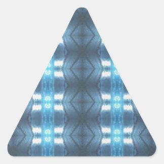 Stylish Dark and Light Blue Diamonds Triangle Sticker