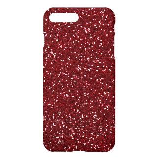 Stylish Dark Red Glitter iPhone 7 Plus Case