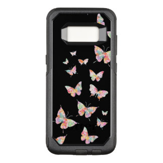 Stylish Designer Butterfly Pattern OtterBox Commuter Samsung Galaxy S8 Case
