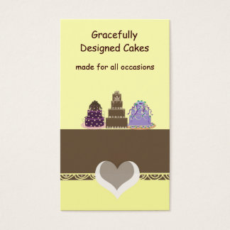 Stylish  Designer Cakes Business Card
