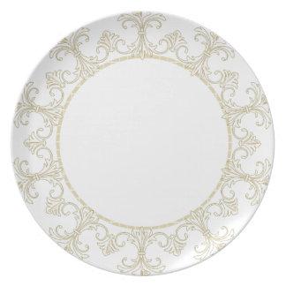 """Stylish Designs"" Classic Iron on cream Monogram Plates"