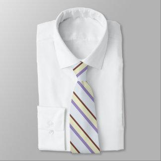 Stylish diagonal pastel stripes pattern tie