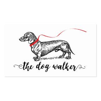 STYLISH DOG WALKER BUSINESS | DOG LOVER PACK OF STANDARD BUSINESS CARDS