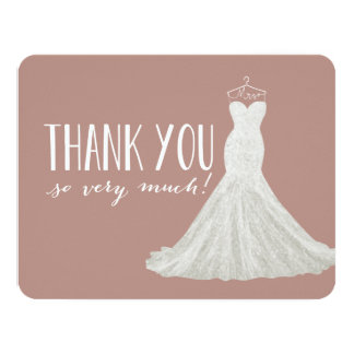 Stylish Dress Taupe | Thank You Card