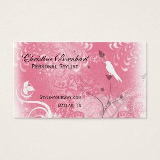 Stylish Dusty Rose Flourish Business Card