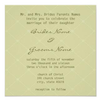 Stylish Earth Friendly Wedding Invitation