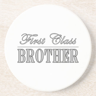 Stylish Elegant Brothers Gifts First Class Brother Coaster