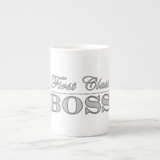Stylish Elegant Gifts for Bosses First Class Boss Bone China Mug