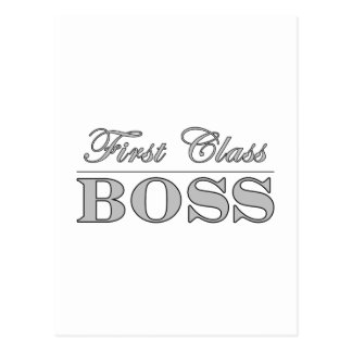 Stylish Elegant Gifts for Bosses First Class Boss Postcard