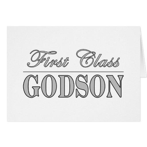 Stylish Elegant Godsons : First Class Godson Card