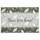 Stylish Elegant Green, Blue & Yellow Leaves Doormat