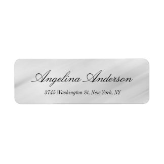 Stylish Elegant Handwriting Modern Gray Return Address Label