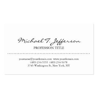 Stylish Elegant Plain Simple White Pack Of Standard Business Cards