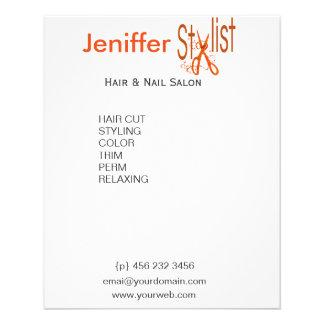 Stylish Elegant Scissors Floral Swirls 11.5 Cm X 14 Cm Flyer