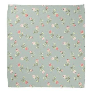 Stylish Elegant Vintage Floral Rose Bandana