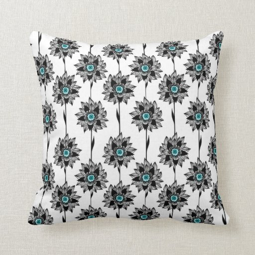 Stylish exotic floral pattern pillow