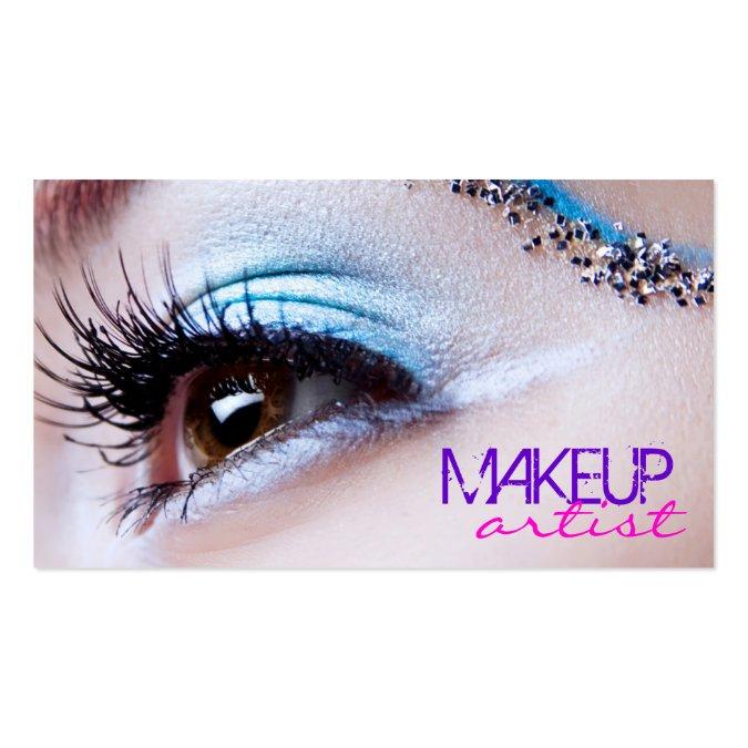 stylish eye shadow makeup artist business card template. Black Bedroom Furniture Sets. Home Design Ideas