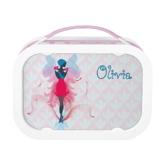 Stylish Fairy girly silhouette illustration Lunch Box