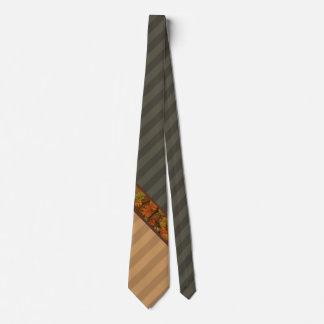 Stylish Fall Stripes Neck Tie
