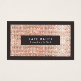 Stylish Faux Copper Sequin Beauty and Fashion