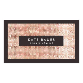 Stylish Faux Copper Sequins Beauty and Fashion Pack Of Standard Business Cards