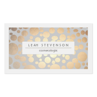 Stylish Faux Gold Foil Cosmetologist Salon and Spa Pack Of Standard Business Cards
