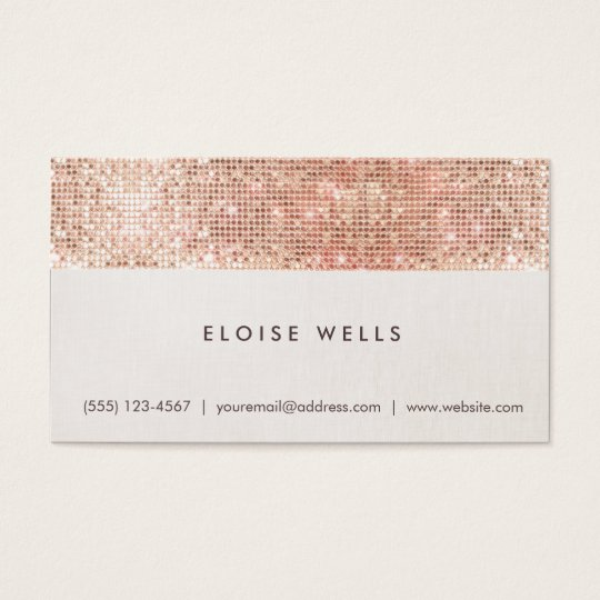 Stylish Faux Rose Gold Sequins Linen Fun Trendy