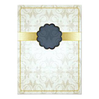 Stylish floral art valentine gift 13 cm x 18 cm invitation card