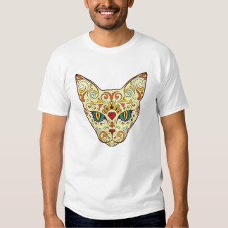 Stylish floral Cat Design Shirt