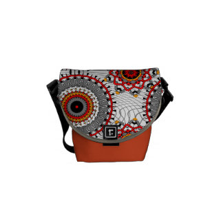Stylish Floral Circles Patterned Commuter Bag