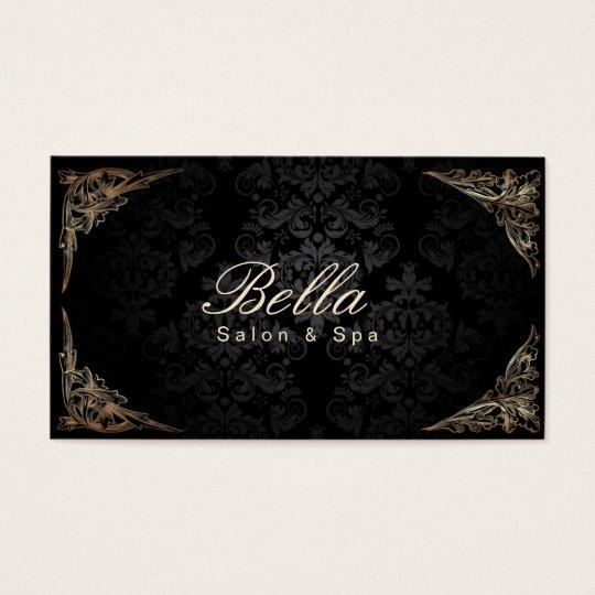 Stylish Floral Framed Damask Salon & Spa Business Card