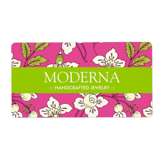 Stylish Floral Labels