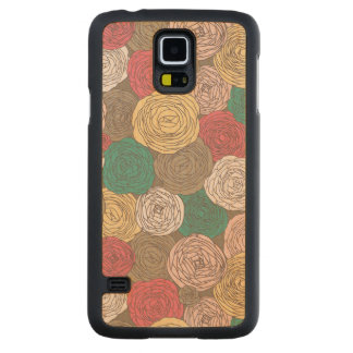 Stylish floral pattern. Bright floral Carved Maple Galaxy S5 Case