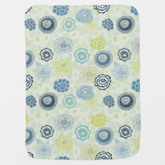 Stylish floral pattern with cute flowers baby blanket