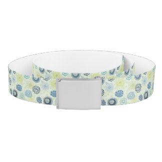 Stylish floral pattern with cute flowers belt