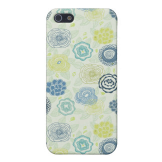 Stylish floral pattern with cute flowers cover for iPhone 5/5S