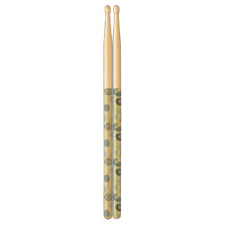 Stylish floral pattern with cute flowers drumsticks