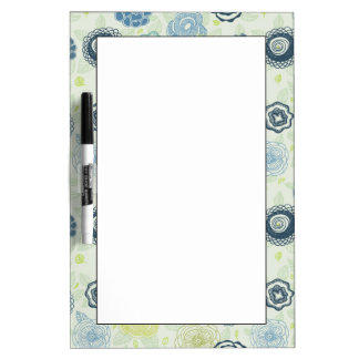 Stylish floral pattern with cute flowers dry erase whiteboard