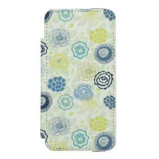 Stylish floral pattern with cute flowers incipio watson™ iPhone 5 wallet case